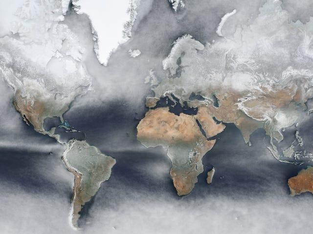 Este fascinante mappa della Terra promedia le foto di satelite di un giorno in una sola foto