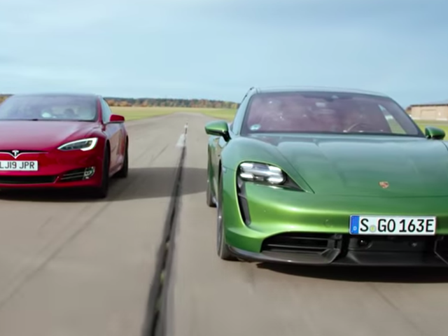 Here's How The Porsche Taycan Did Against The Quickest Tesla Model S