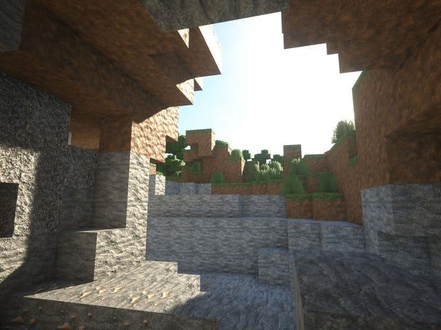 Minecraft med fina belysning ser bra ut