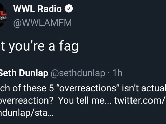 """Der Radiosender von New Orleans, der seinen eigenen Sportveranstalter """"A Fag"""" nannte, bezieht sich auf die Strafverfolgung"""