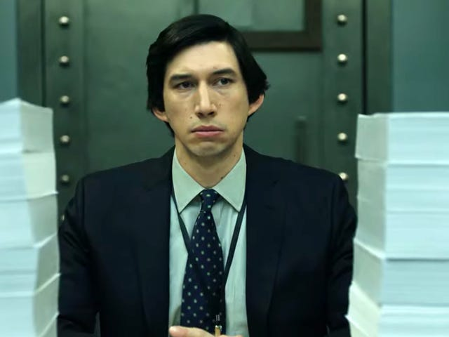 Adam Driver makes congressional oversight exciting in the political drama The Report