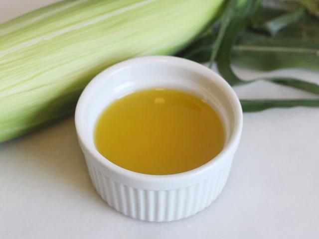 Membuat mentega rasa jagung dengan tongkol dan sekam