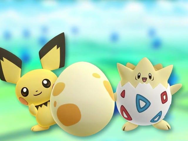 De eerste tweede generatie <i>Pokémon Go</i> in <i>Pokémon Go</i>