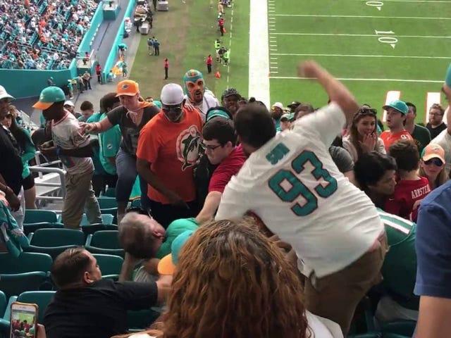 Стадион «Грязный Найнерс-Дельфинс», акцентированный фанатами Майами, жалуется на игру