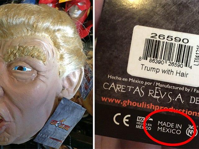 Mi misión fallida para encontrar una máscara Trump de fabricación estadounidense