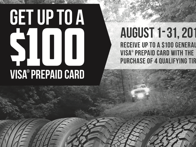 Buy Four New Tires, Get Up To $100 Back