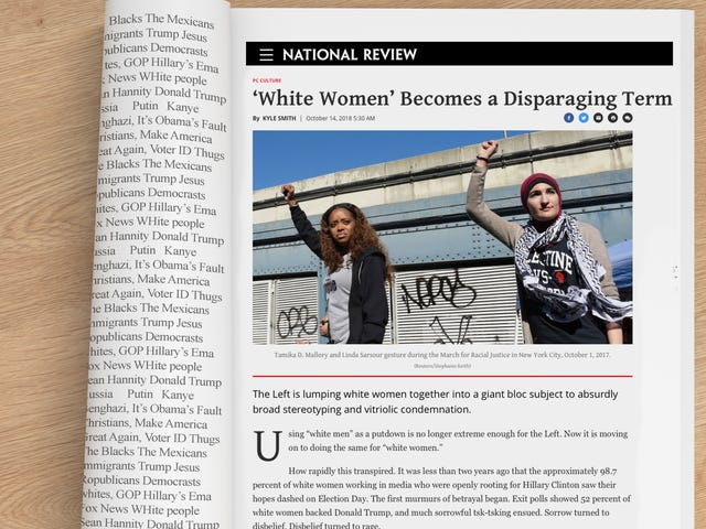 A Requiem for 'White Women,' Which the National Review Says Is a 'Disparaging Term'