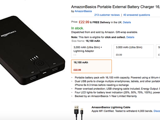 Amazon Recalls Six Faulty AmazonBasics Power Banks