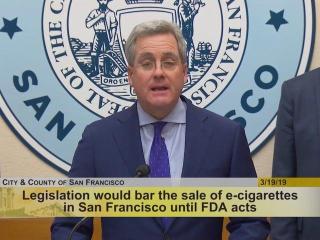 旧金山想要禁止所有电子烟销售