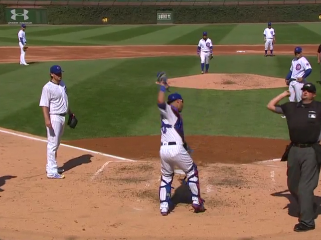 Cubs Battery Lose Their Minds Over Blown Strike Three Call