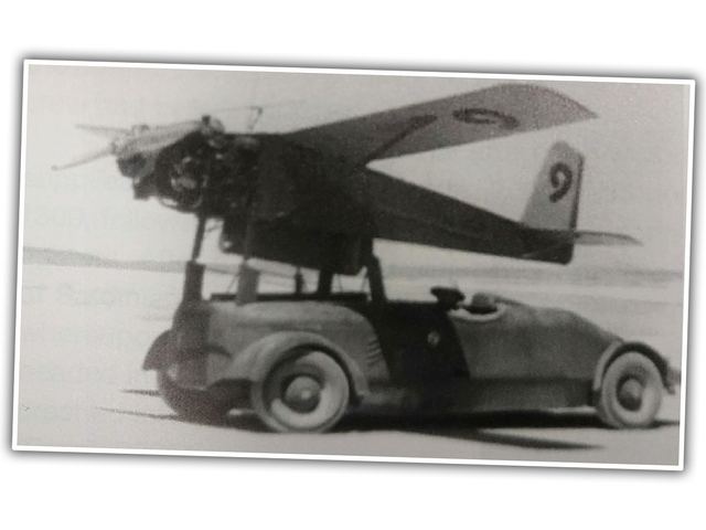 I Bet We Can Identify This Car That's Being Used To Launch A Very Early Drone Aircraft