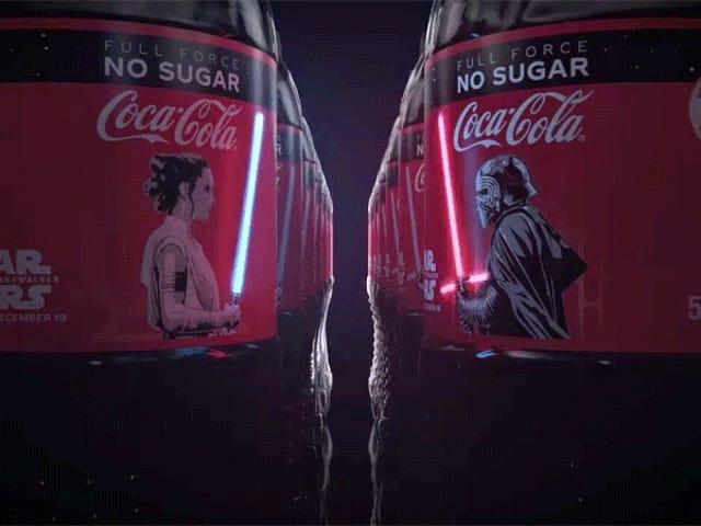 Estas botellas de Coca-Cola con sables de luz que se encienden son un tesoro para coleccionistas