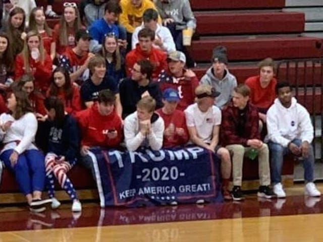 High School Students Bring Trump 2020 Flag To Basketball Game Against Predominantly Black School
