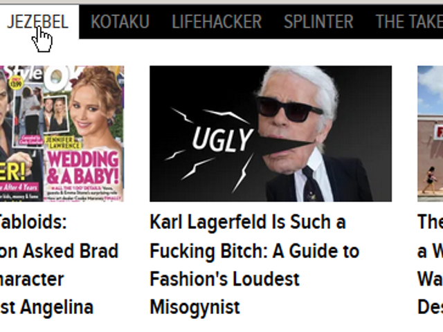 So Jezebel uses a misogynist term to complain about a misogynist.