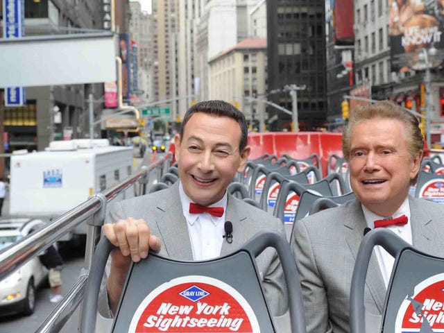 Let us take time to remember the great Pee Wee Herman & Regis Philbin crossover event of 2010