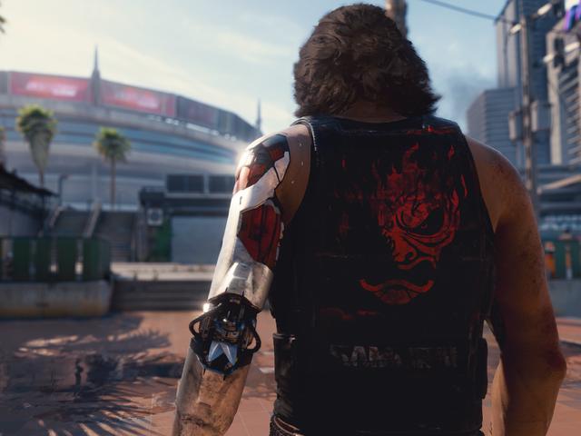 <i>Cyberpunk 2077</i> artista <i>Cyberpunk 2077</i> dice che l&#39;immagine di gioco controversa è un commento alle corporazioni