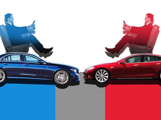 The War For Autonomous Driving: 2017 Mercedes-Benz E-Class VS. 2017 Tesla Model S