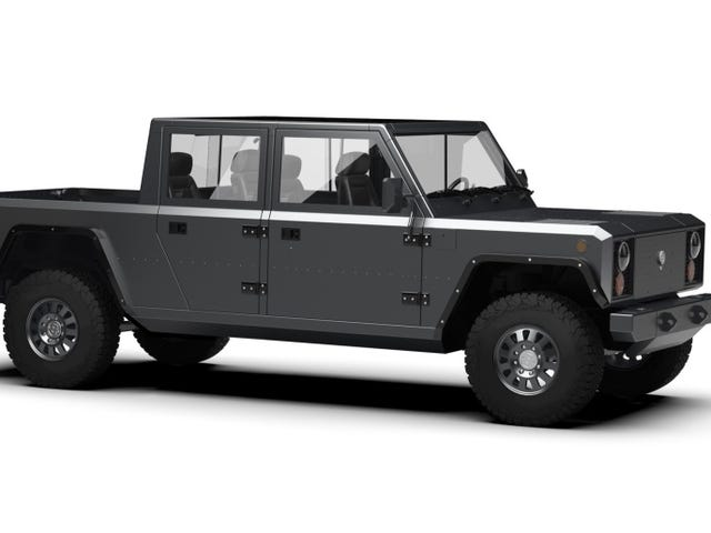 The Bollinger B2 Is a Boxy Electric Pickup That Can Haul Ridiculously Long Things
