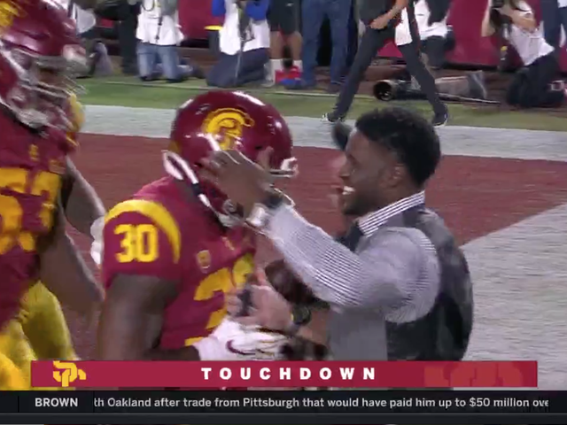 Reggie Bush Returned To The Coliseum And Had A Little Fun