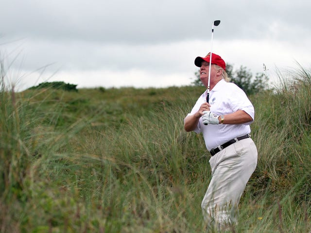 Lindsey Graham Promises That Donald Trump Really Did Shoot A 73, Or Maybe A 74, He Swears