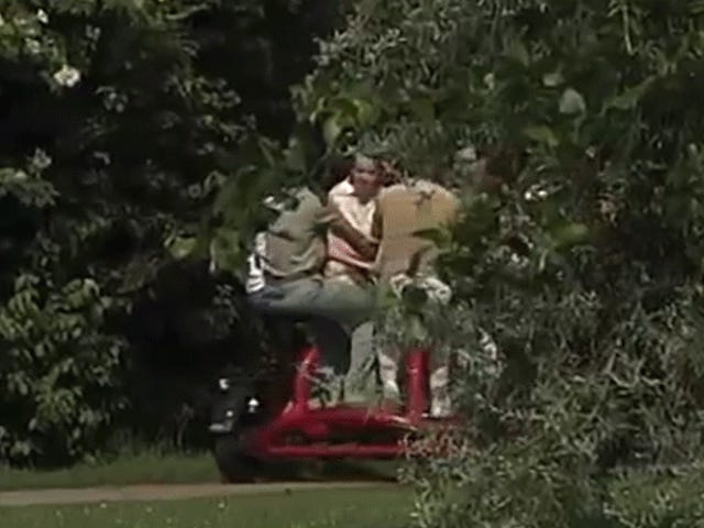What the Heck Is Happening on This Seven-Person Tricycle?