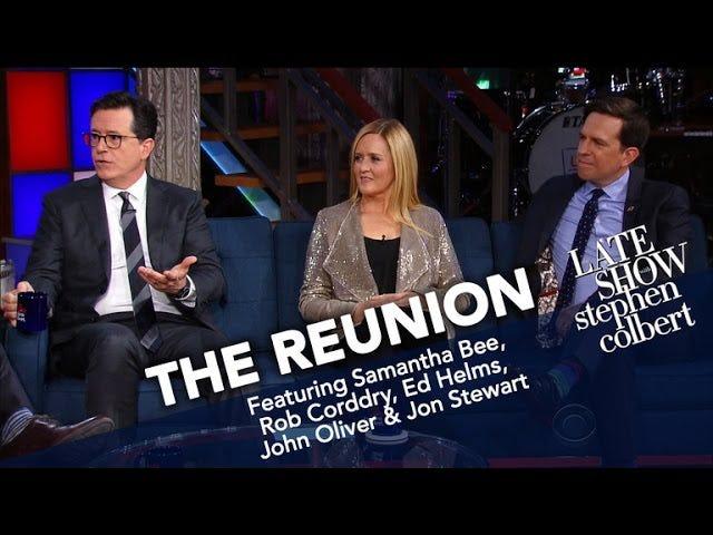 Stephen Colbert Got Gang Back Yhdessä <i>Daily Show</i> Reunionille
