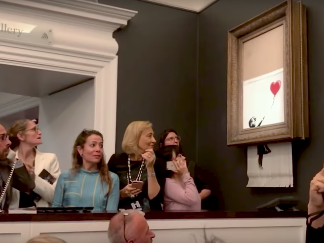 Banksy's Painting Didn't Shred as Much as the Artist Intended but It's Fine