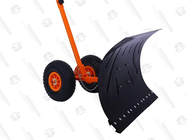 This Wheeled Shovel Is Like Your Own Personal Snow Plow