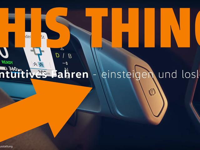 Sähkökäyttöisen VW ID.3: n tyylikkäin asia on vaihde