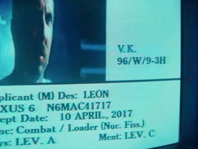 Happy Inception Day to Blade Runner Replicant Leon Kowalski