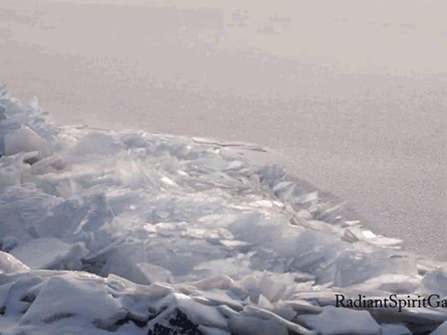 Ver el hielo del lago lentamente acumularse en la orilla es un recordatorio tranquilizador de que la primavera se aproxima