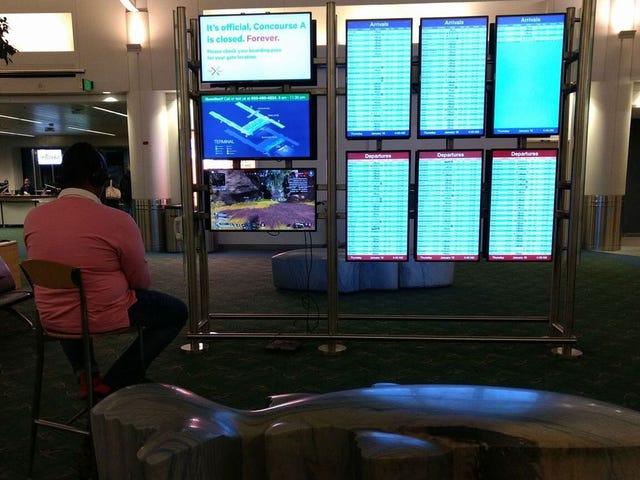 "Man ""Hijacks"" Airport Monitor To Play PS4 Game"