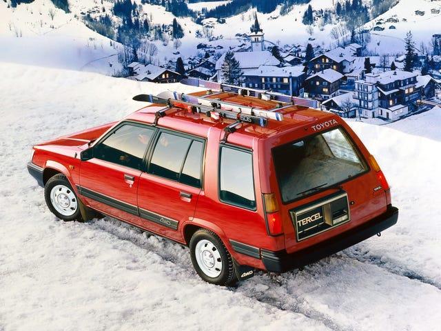 4WDトヨタTercel SR5は先見の明のための感動的なラリーワゴンでした