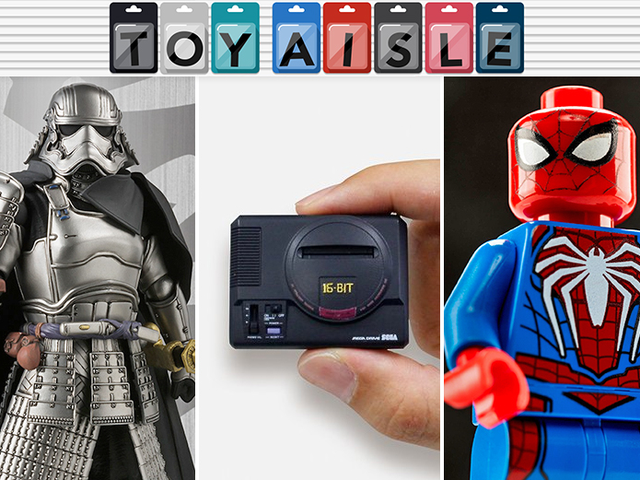 Not Even Samurai Captain Phasma and a Lego PS4 Spider-Man Can Compete With This Tiny Sega Genesis