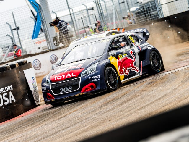 Thông qua Rain và Texas Heat, Rallycross đưa vào địa ngục của một chương trình ở Austin