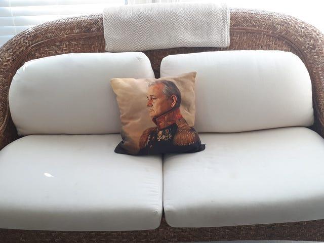My hotel room has a Bill Murray pillow.
