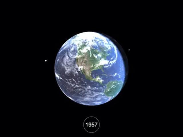 Tonton 60 Years of Space Junk Akumulasi di Sekitar Bumi
