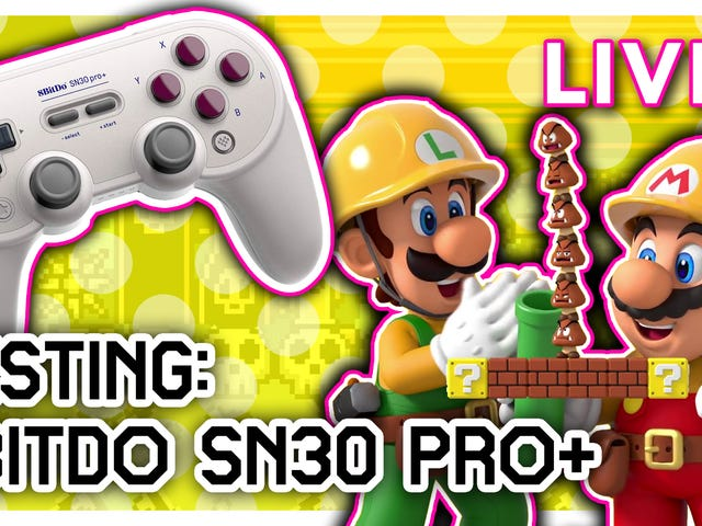 I (Tim Rogers) got one of those new 8bitdo SN30 Pro+ controllers. I'm really excited about it, so I'