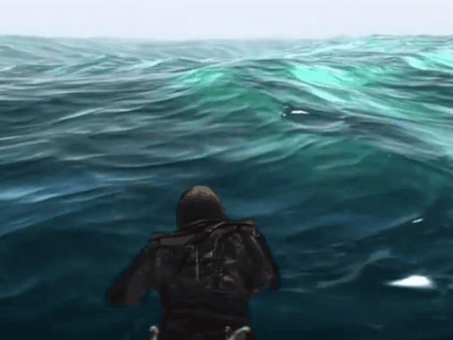 ฉันชื่นชมความเพียรของชายคนหนึ่งที่ว่ายข้ามแผนที่ทั้งหมดใน <i>Assassin's Creed IV: Black Flag</i>