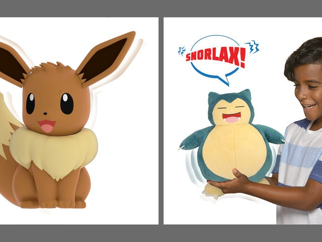 Hey Kids, It's My Partner Eevee And Snooze Action Snorlax