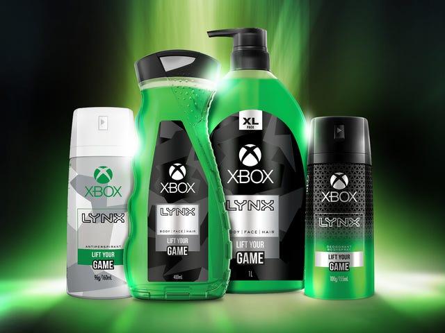 Xbox a été désodorisant et gel de ducha (si, c'est le bien)