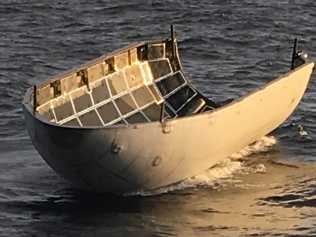 SpaceX Payload Fairing Survives Despite Missing Recovery Net by 'a Few Hundred Meters'