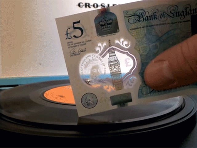 People Are Using Britain's New Plastic Money to Play Vinyl Records