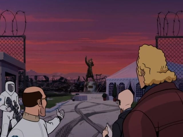 The family heads home on an excellent Venture Bros.