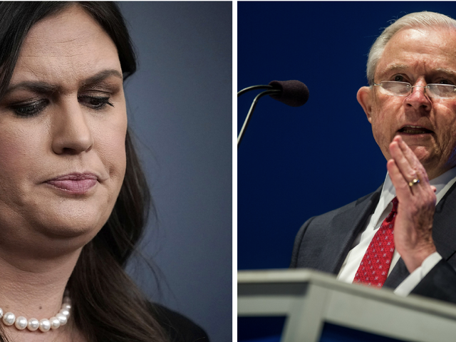 Sarah Huckabee Sanders and Jeff Sessions Defend Separating Immigrant Children From Their Parents