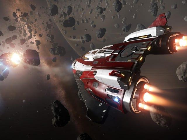 <i>Elite: Dangerous</i> παίκτης ξοδεύει ένα λογότυπο του παιχνιδιού μηνύματος στο διάστημα <em></em><em></em>