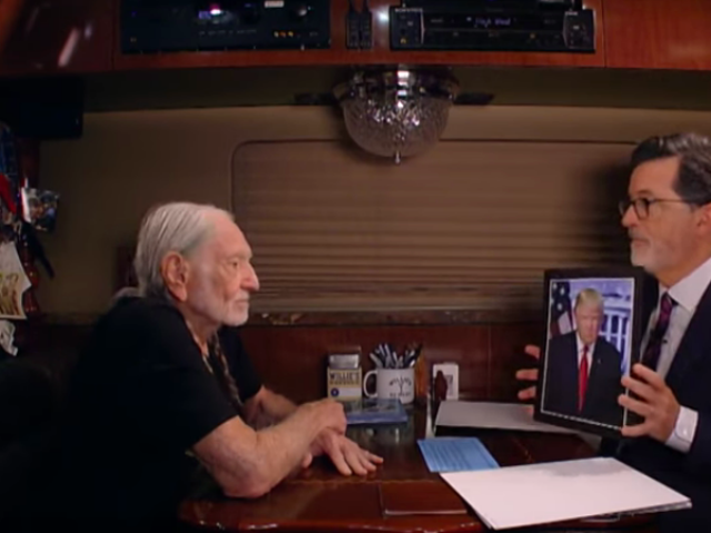 On Willie Nelson's tour bus, Stephen Colbert asks which celebrities most need a hit