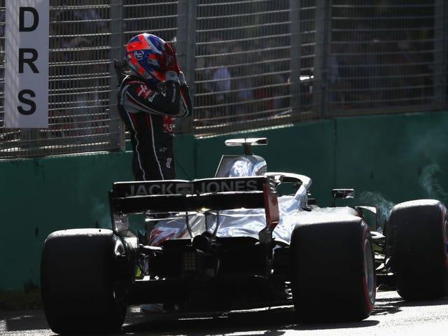 Haas F1은 휠 너트 때문에 최고의 레이스를 엉망으로 만들었습니다.