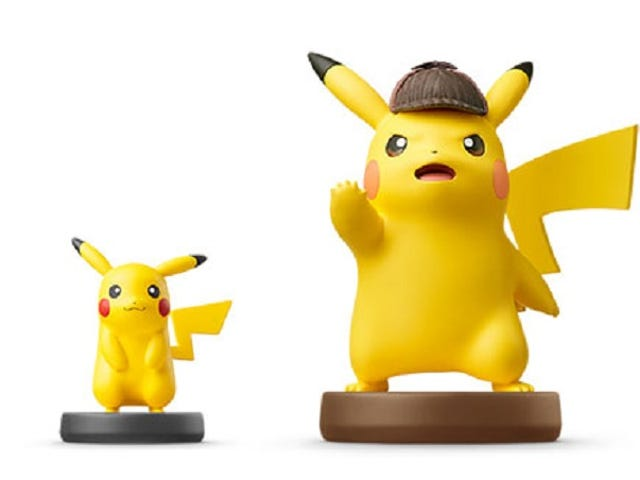 Look At This Giant Detective Pikachu Amiibo