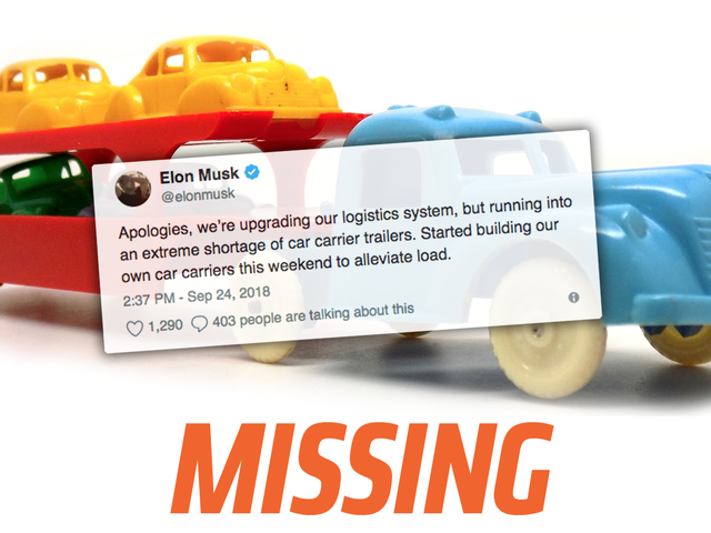 Auto Haulers Don't Know Anything About Elon Musk's Claimed'Extreme Shortage' of Car Carrier Trailers